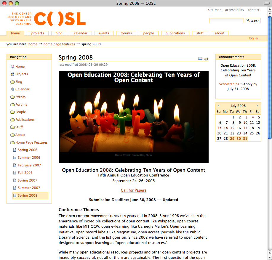 COSL :: Center for Open and Sustainable Learning