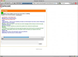 Comcast Customer Service Chat Room