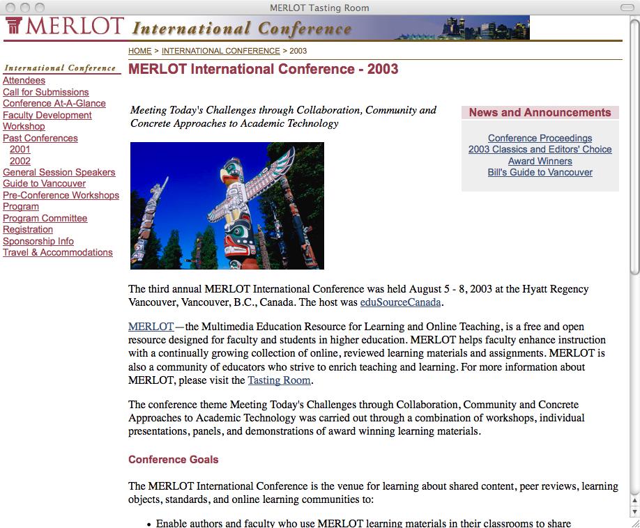 MERLOT Conference Website