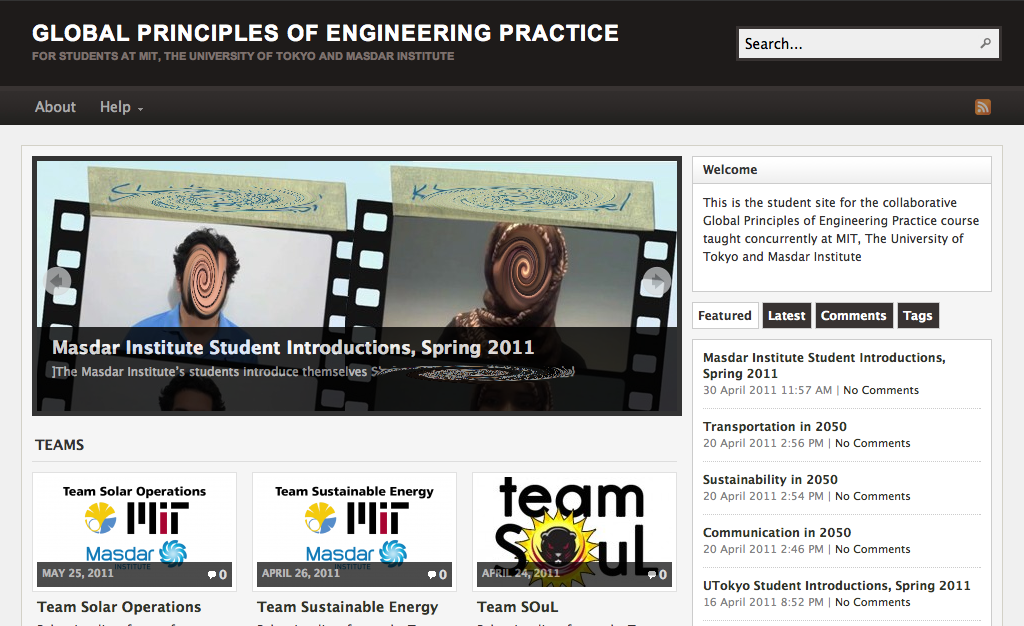 Global Principles of Engineering Practice Website