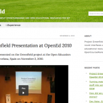 Project Greenfield Website