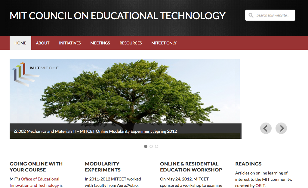 MIT Council on Educational Technology Website