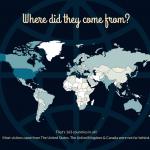 2013 WordPress Visitor Map